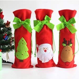 Handbags - 3pcs Santa Claus Wine Bottle Cover bags